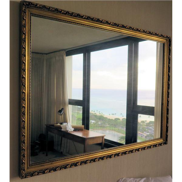 "Hanging Wall Mirror w/ Raised Border 46""x32"""
