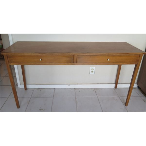 """Long Wooden Console Entry Table w/ 2 Drawers 57""""x19""""x28""""H"""