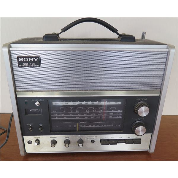 Vintage Sony CRF-150 FM-AM Solid State 13 Band Radio