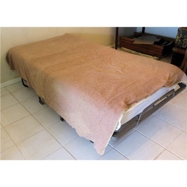 """Folding Rollaway Bed Frame 540-39 & Mattress 72""""x39"""""""