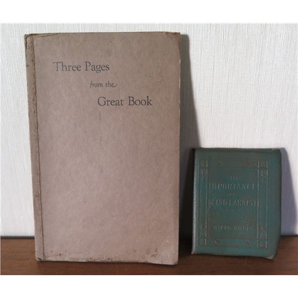Vintage Books: 'Three Pages from the Great Book' & 'Importance of Being Ernest'