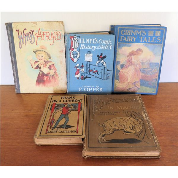 Vintage Books: 'Who's Afraid', 'Grimm's Fairy Tales', 'Frank on a Gunboat', etc