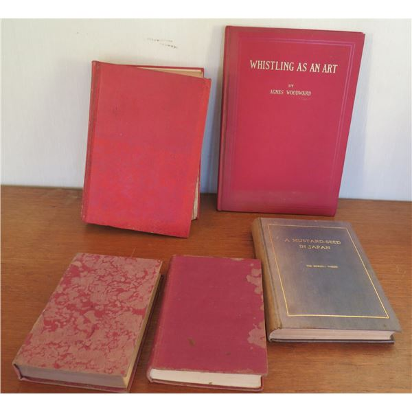 Vintage Books: 'Whistling as an Art', 'Mustard Seed in Japan', 'Lord Peter Mystery;