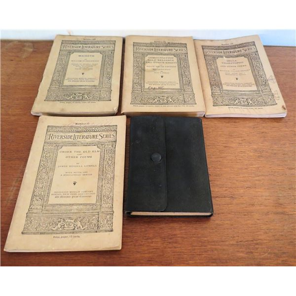 Vintage Books: 4 Issues 'Riverside Lecture Series' & Screenplay by C. Gavitt 1896