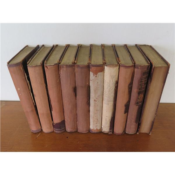 Qty 10 Vintage Books: 'The Library of Historic Characters & Famous Events'