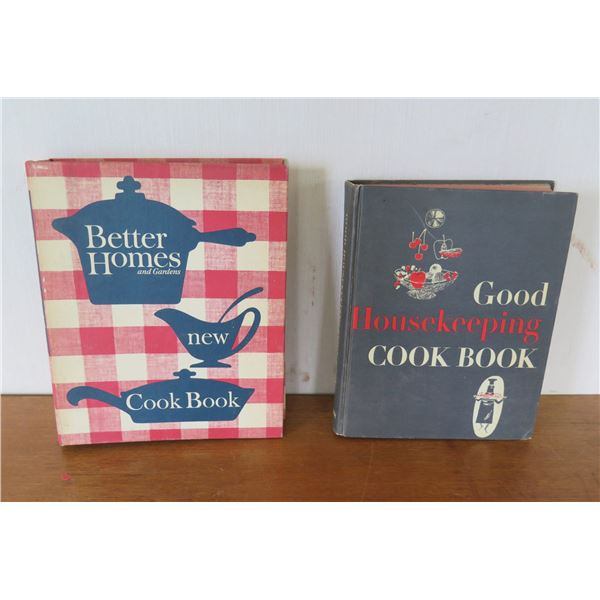 Qty 2 Vintage Cook Books: 'Better Homes' Binder & 'Good Housekeeping' 1955