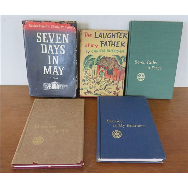 Qty 5 Vintage Books: 'Seven Paths to Peace', 'Service is my Business' etc
