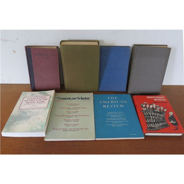 Qty 8 Vintage Books: 'The American Review', 'Independent Witness' etc