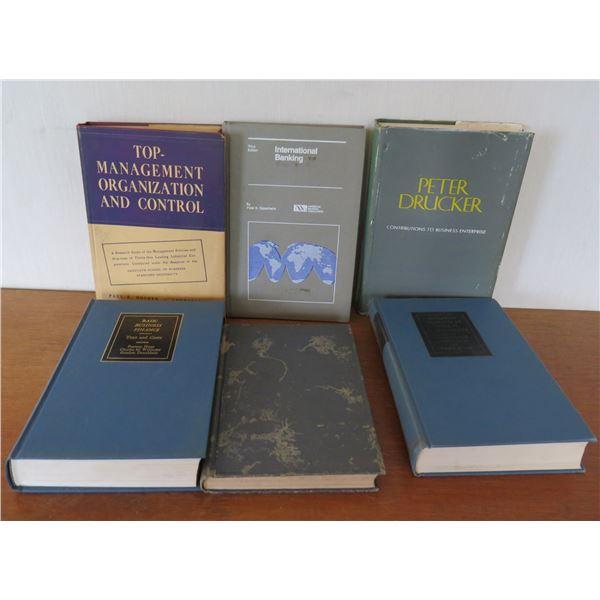 Qty 6 Vintage Books: 'Basic Business Finance', 'Top Management Control' etc