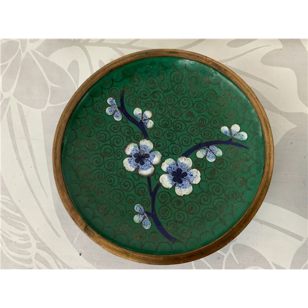 Qty 4 Small Painted Metal Plates