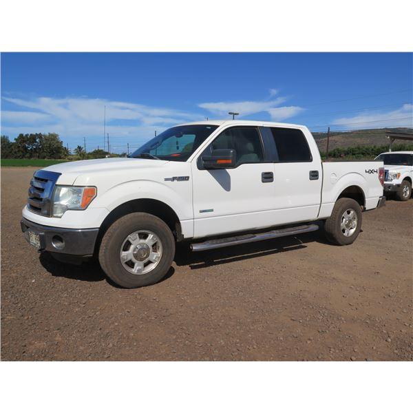 2011 Ford F150 Super Crew 4WD Truck, XLT, V6 3.5L Turbo Charge, 42,152 Miles, Lic. 151KBP (Starts &