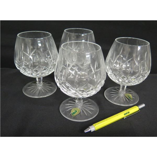Qty 4 Waterford Crystal (Ireland) Brandy Snifter Glasses 5.5 H