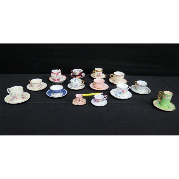 Multiple Demitasse & Teacups w/ Saucers: Limoges, Winterling, Ridgewood, etc
