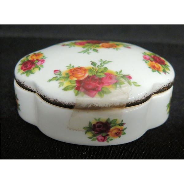 "Royal Albert England Bone China 'Old Country Roses' Trinket Box, Approx. 3"" Dia."