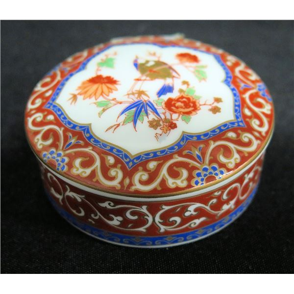 "AK Kaiser 60 Red Round Floral Trinket Box, Approx. 2.5"" Dia."