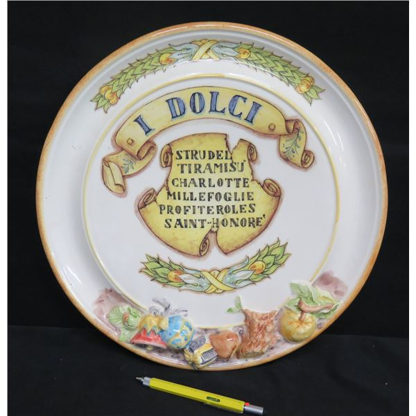 I Dolci' Strudel Tiramisu Serving Plate - Abigails Italy