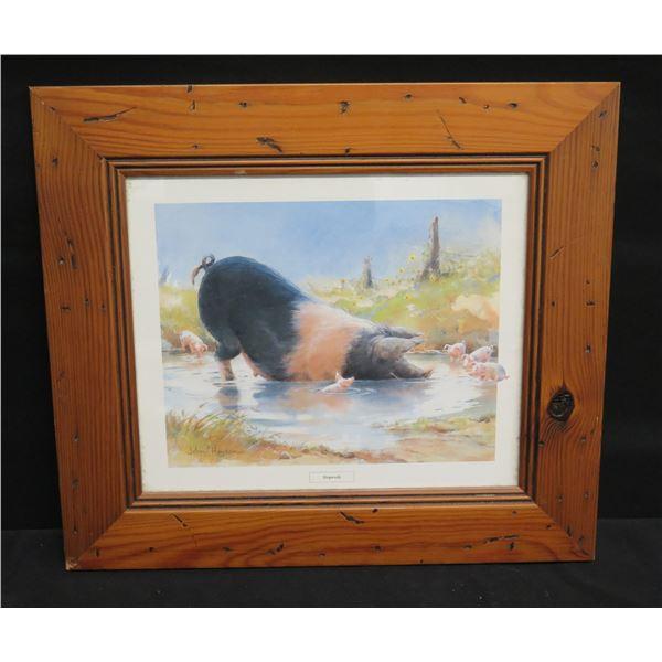 "Framed Art - Country Collection 'Applesauce/Hogwash' 16""x15"""