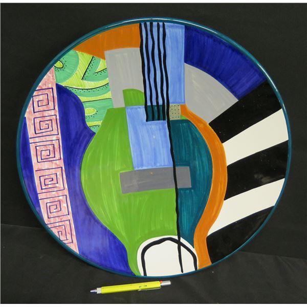 "Grazia-Deruta (Made in Italy) Plate 58 Abstract Susan Eslick 18"" Dia."