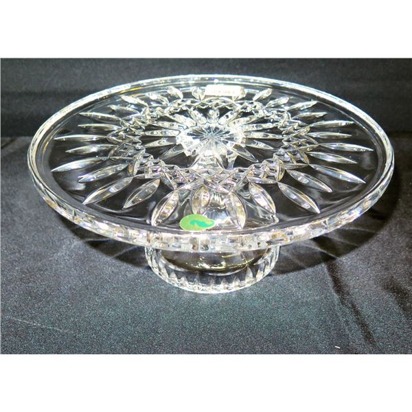 """Waterford Crystal (Germany) Lismore FTD Cake Plate 11""""Dia, 5""""H"""