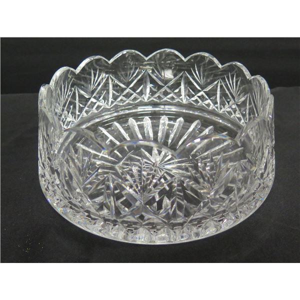 "Waterford Crystal Pinwheel Design Bowl w/ Scalloped Edges 10"" Dia, 5""H"