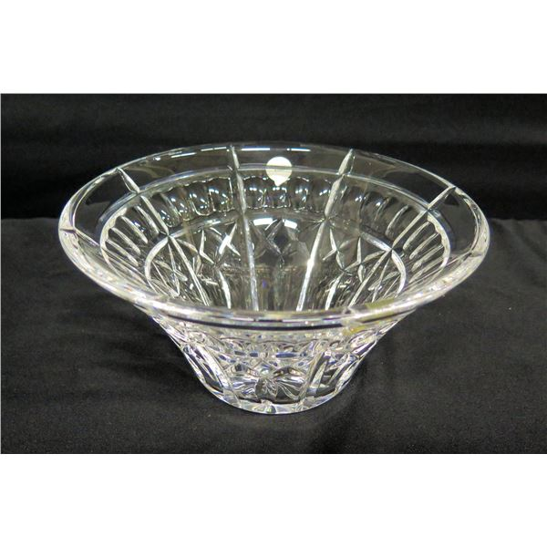 """Waterford Crystal Ireland Flared Bowl 8"""" Dia, 4""""H"""