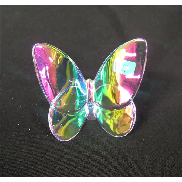 """Baccarat France Multi-Colored Butterfly 3"""" Wide"""