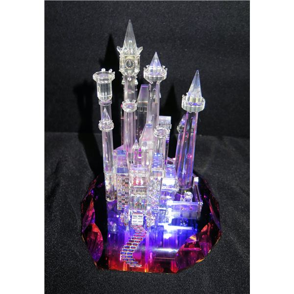 """Clear & Colored Glass Castle 5""""Dia, 8"""" Tall"""