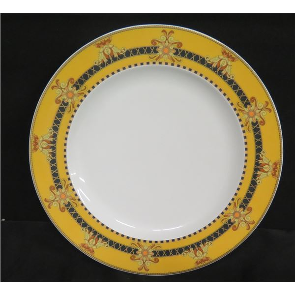 "Versace Rosenthal Yellow Border Plate 9"" Dia"