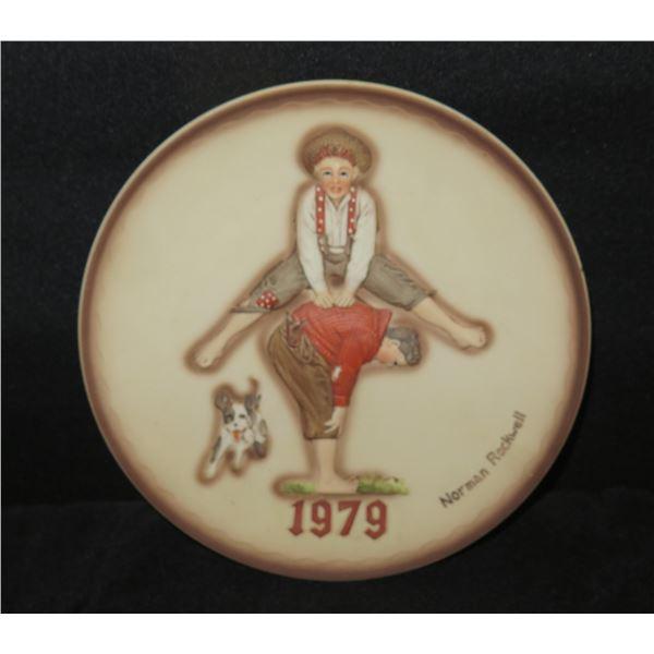 "Norman Rockwell 1979 Hula Girl 1st Ltd. Edition ""Leapfrog"" Plate 7.5"" Dia"