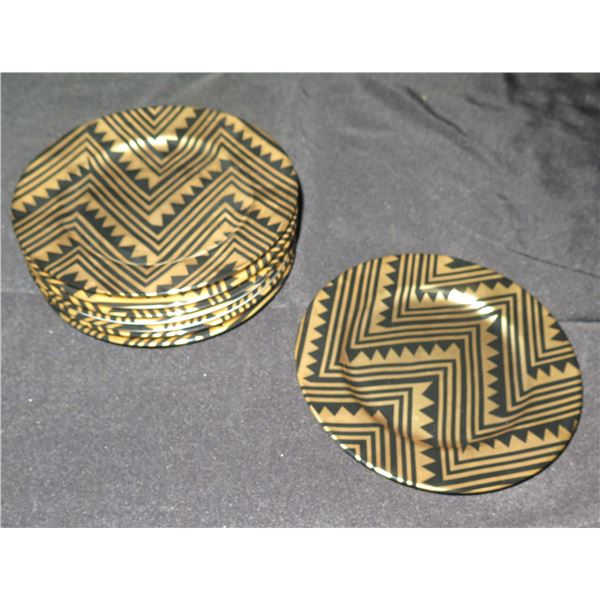 "Qty 8 Fitz & Floyd Fine Porcelain Japan ""Mesa"" Plates 8"" Dia."
