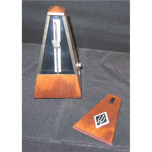 "Wittner Presto 168 Vintage Wooden Metronome 8.5""H"