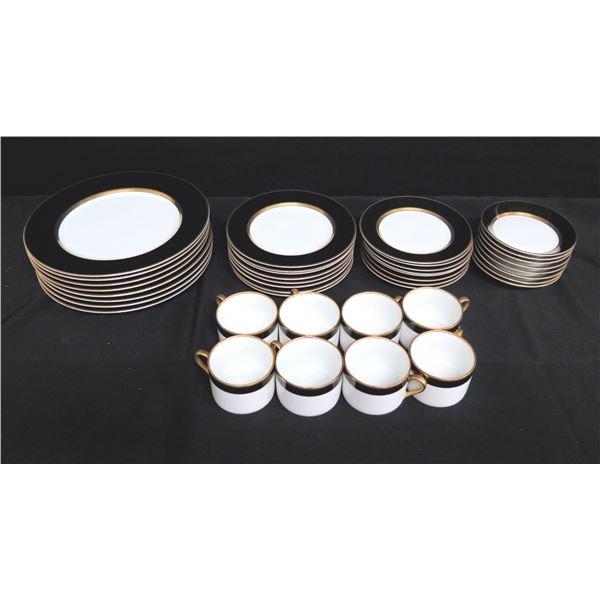 "Set of 8 Fitz & Floyd ""Renaissance"" Fine China - Dinner, Saladm Dessert Plates, Bowls, Cups"