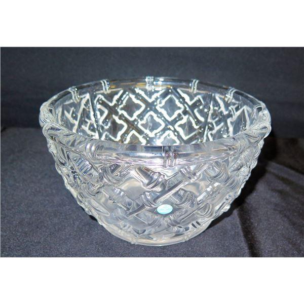 """Tiffany & Co. Germany Crystal Bowl 9"""" Dia, 5""""H"""