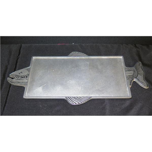 "Wilton Armetale Metal Fish Grilling Plank Serving Tray 157480  21""L"