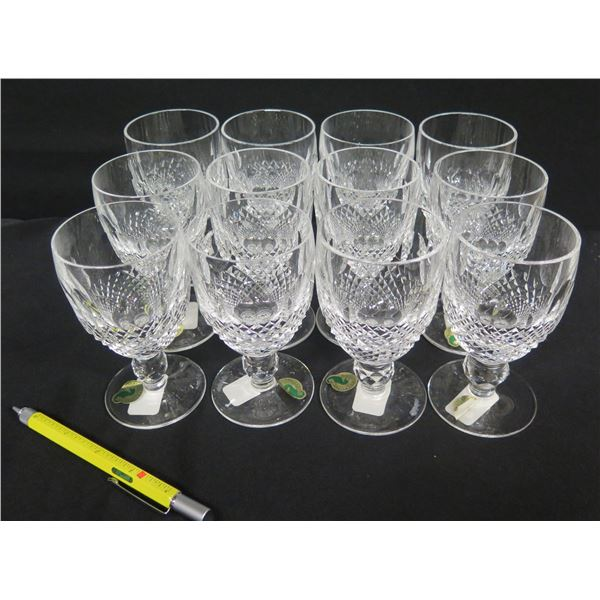 Qty 12 Waterford Crystal Ireland Colleen Claret Glasses