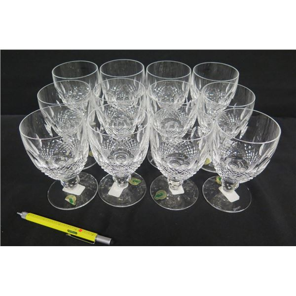 """Qty 12 Waterford Crystal Ireland Colleen 10 oz Glasses 5.5""""H"""