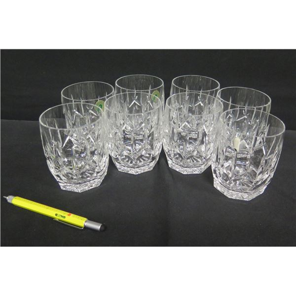 """Qty 8 Waterford Crystal Ireland Highball Glasses 4""""H"""
