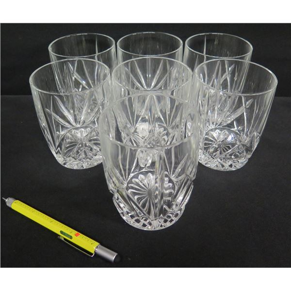 """Qty 7 Marquis by Waterford Crystal Highball Glasses 4.5""""H"""