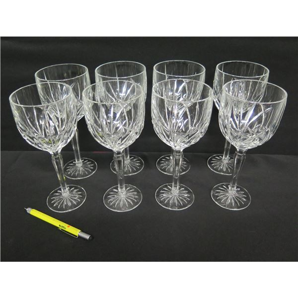 """Qty 8 Marquis by Waterford Crystal Wine Glasses 9""""H"""