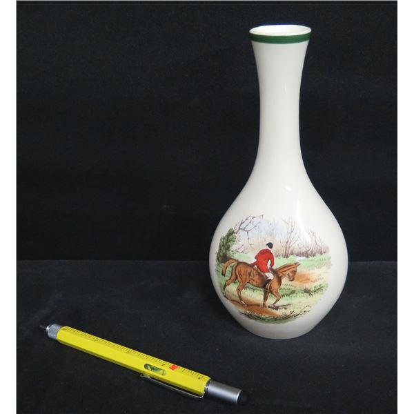 "Spode England 'Homeward' 2/9265 Bud Vase 8"" Tall"