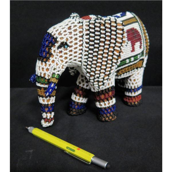 """Beaded Elephant Figure 7""""H"""