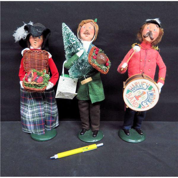"Qty 3 Figurines: Fiori's Harvey Twodle's Band, Man w/ Tree, Man w/ Basket 13""H"