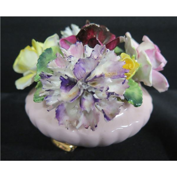 """Radnor Bone China England Decorative Flower 3""""H (bottom shows crack line)"""