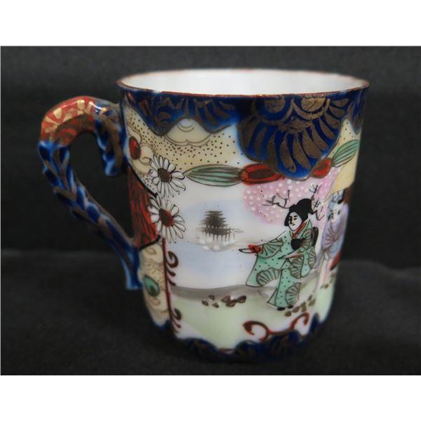 """Enameled Asian Mug w/ Maker's Mark 3"""""""