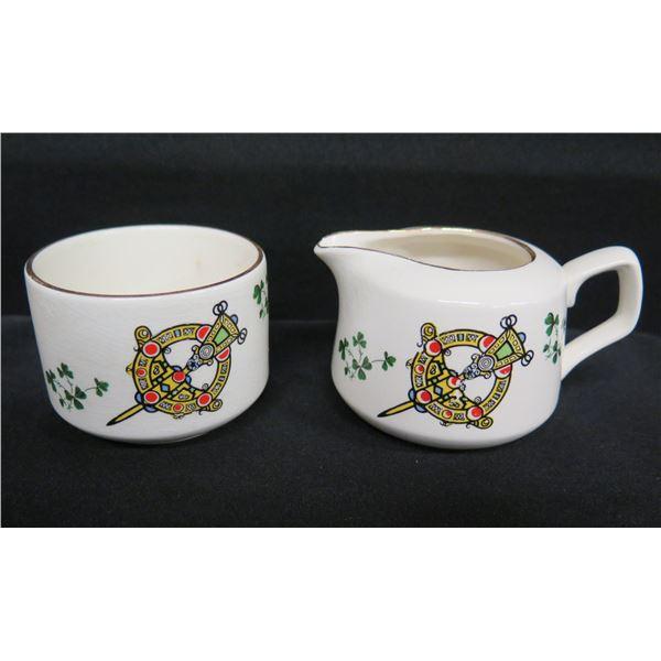 "Carrigaline Pottery Co. (Cork, Ireland) Creamer & Sugar Bowl 2.5""H"
