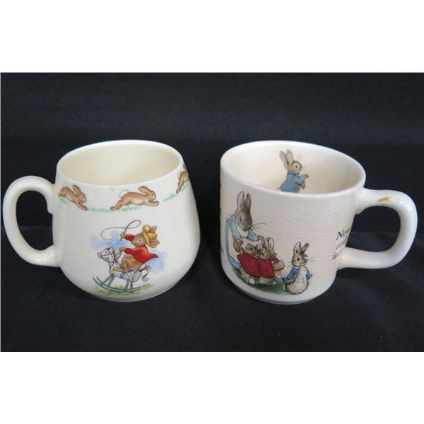 Wedgwood Peter Rabbit & Royal Doulton 'Bunnykins' Mugs