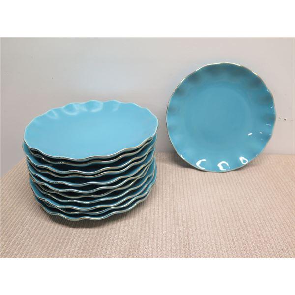 "Kate Spade New York ""Gwinnet Lane Turquoise"" Plates 10.5"" Dia"
