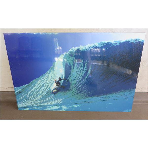 "Big Wave Surfer Art Work Unframed 24""x36"""