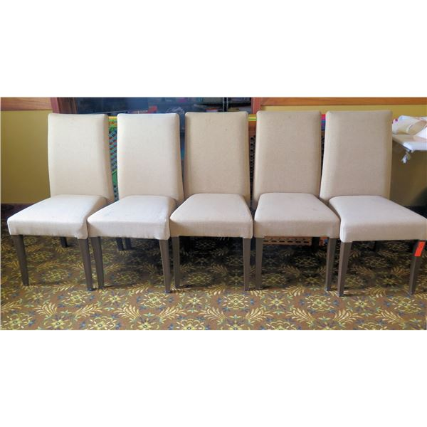 Qty 5 Upholstered Wooden Chairs