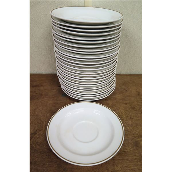 """Qty Approx. 27 Oneida by Noitake White China Saucer Plates 6.25"""" Diameter"""